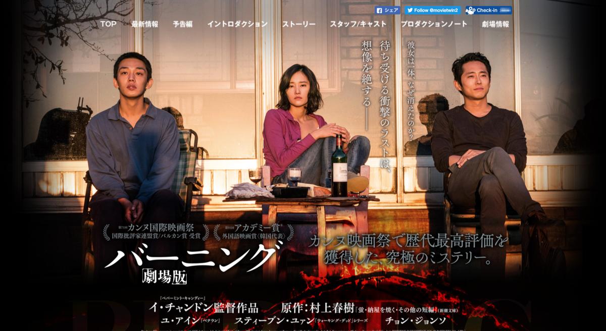 「バーニング 劇場版」サイトトップページ